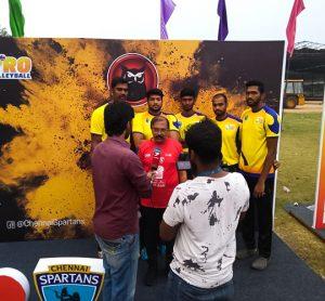 Chennai Spartans players press meet