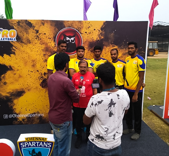 Chennai Spartans players press meet