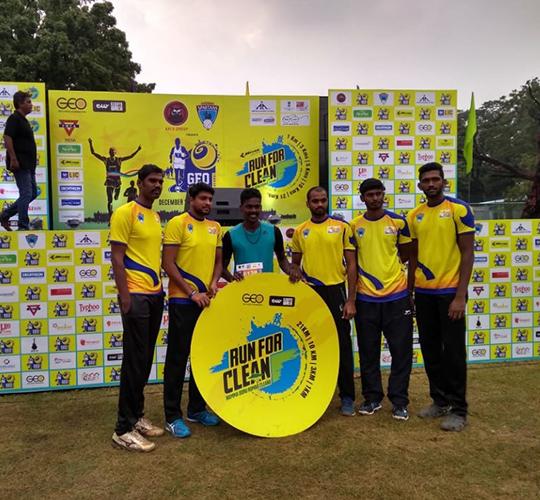 Chennai Spartans Players introducing Run For Clean