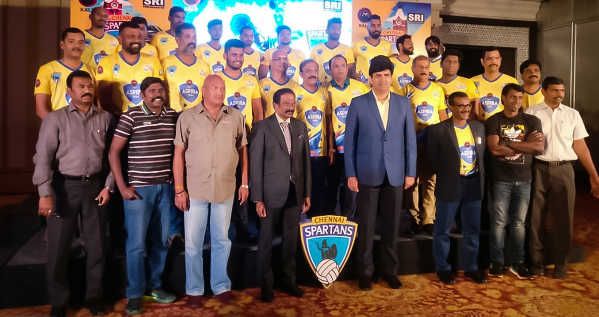 Chennai Spartans unveils Logo, Player Jersey & Website