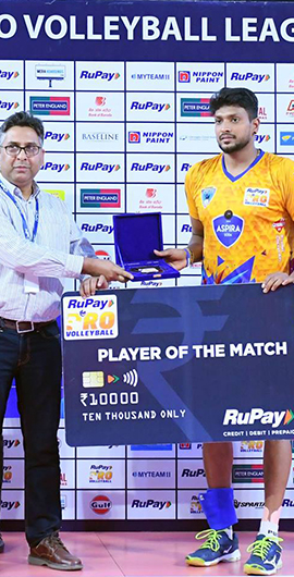 Player of the match – Final
